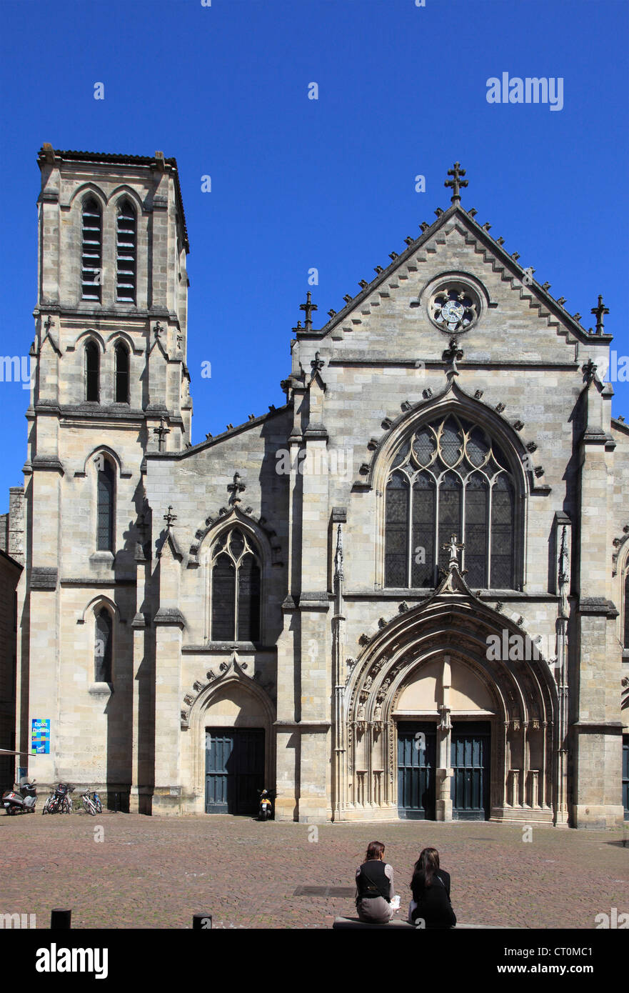 France, Aquitaine, Bordeaux, Église St-Pierre, church, - Stock Image