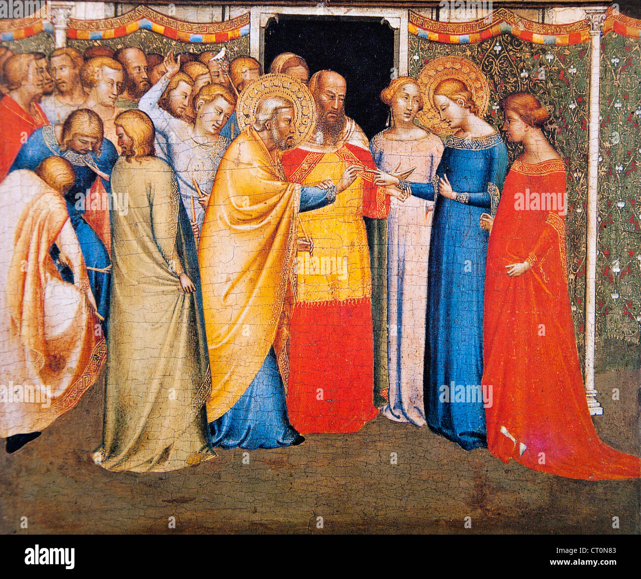 The Marriage of the Virgin - Bernardo Daddi - Stock Image