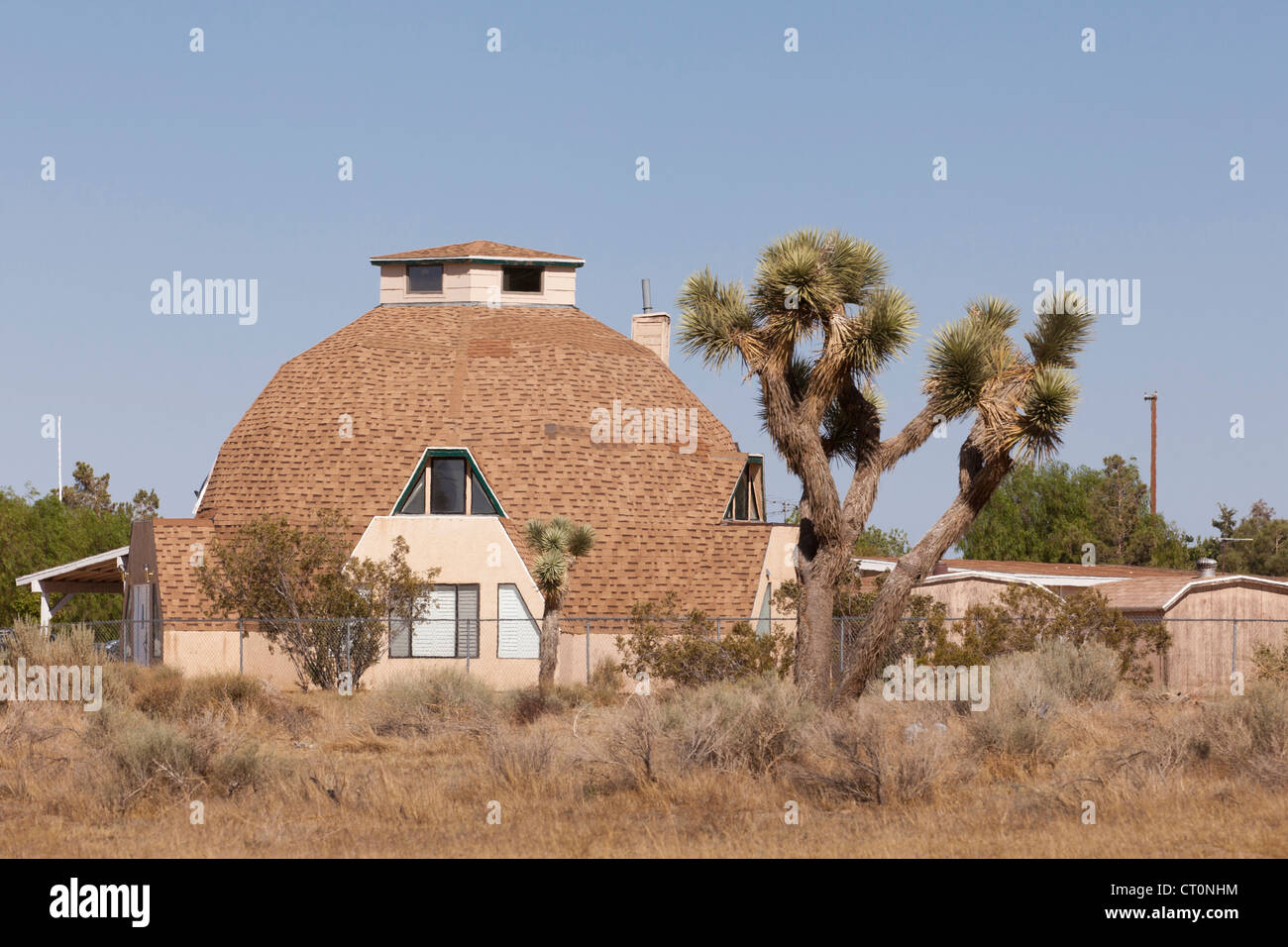 A geodesic dome home Stock Image