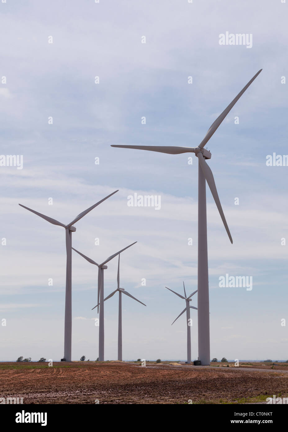 Wind turbines - Texas, USA - Stock Image