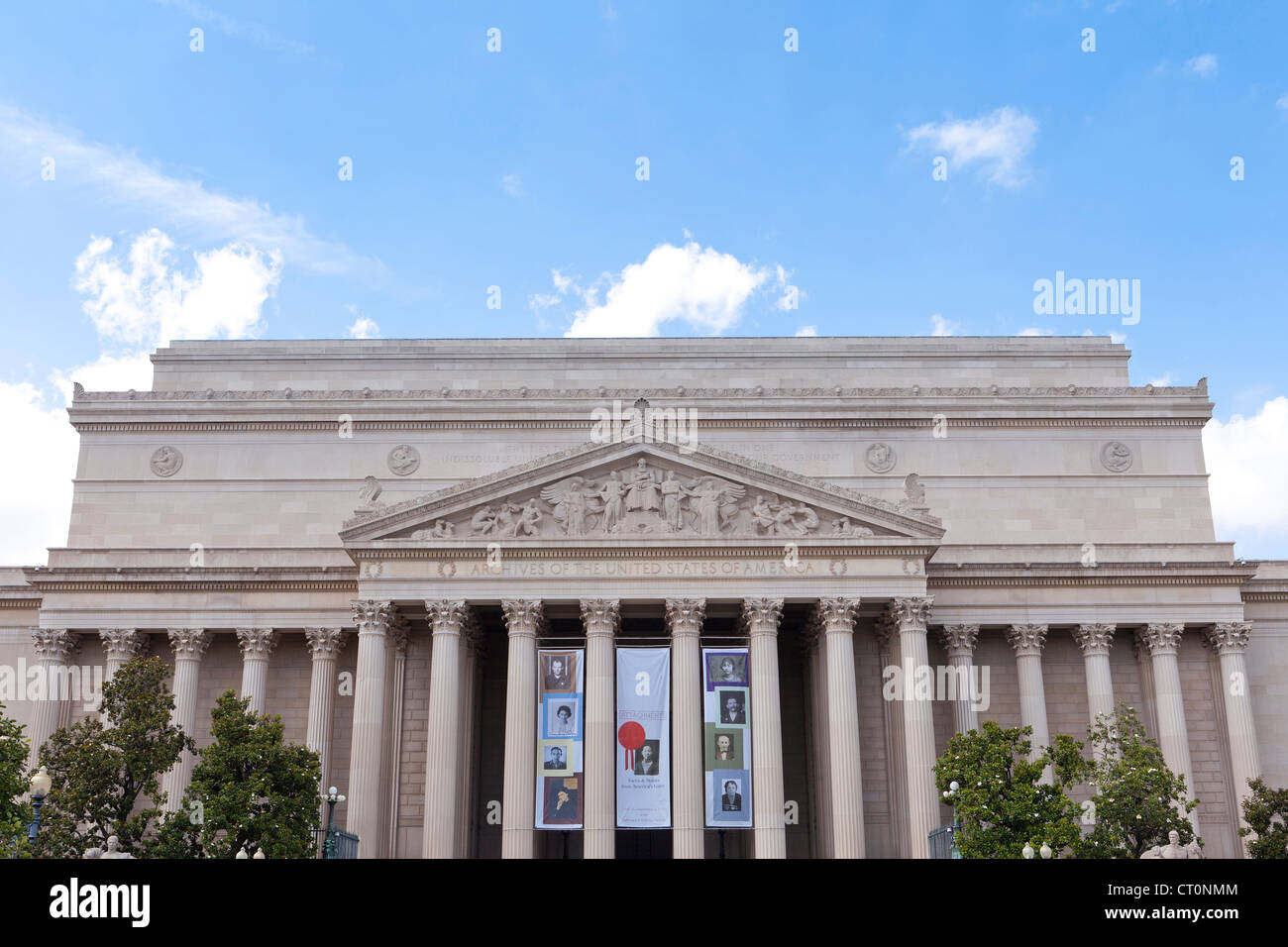 National Archives building - Stock Image