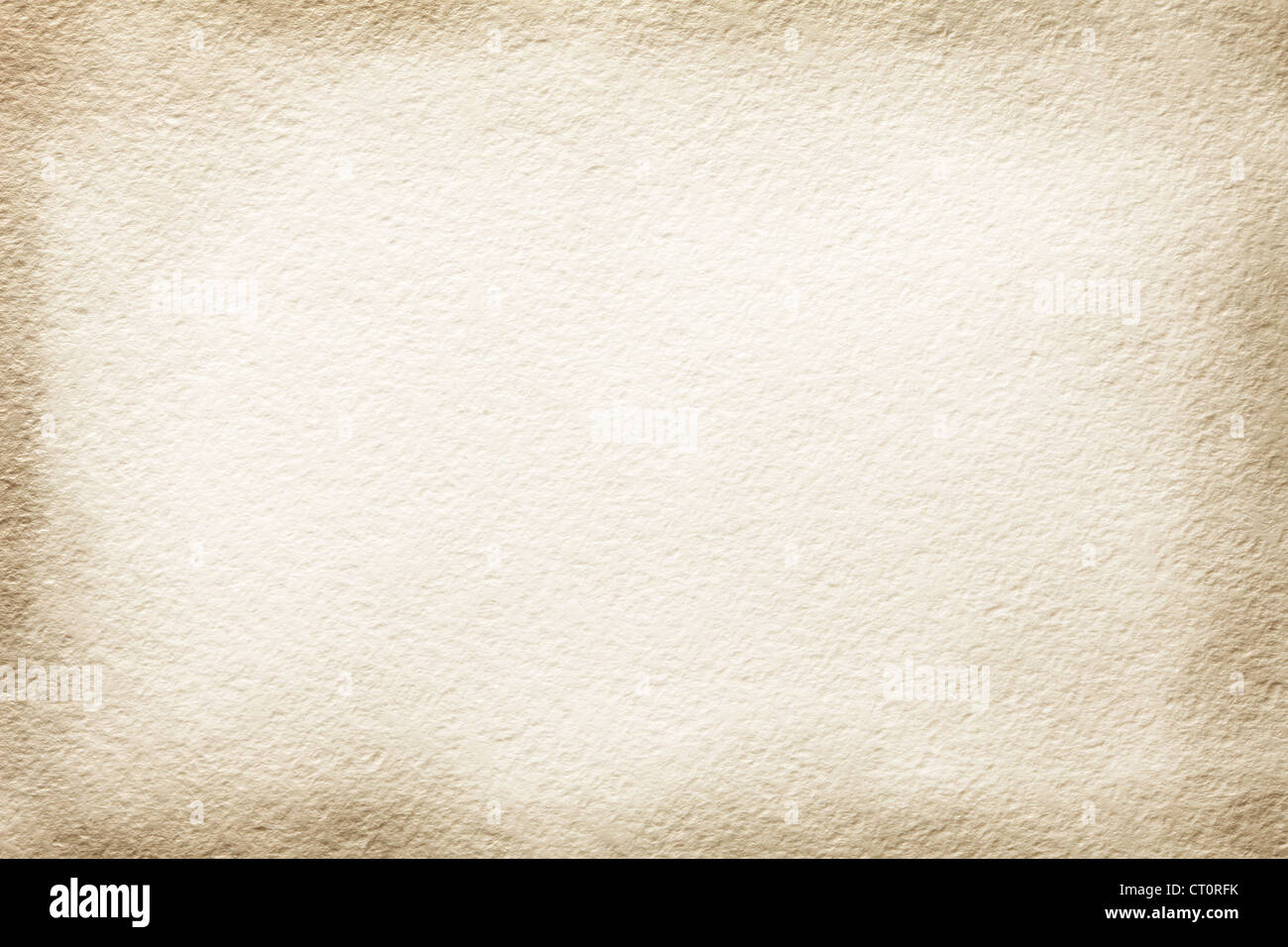 Texture old paper with tinted edges - Stock Image