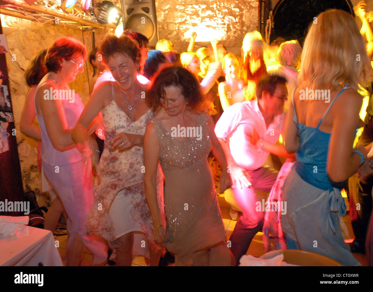 Guests at a wedding dance omitted - Stock Image