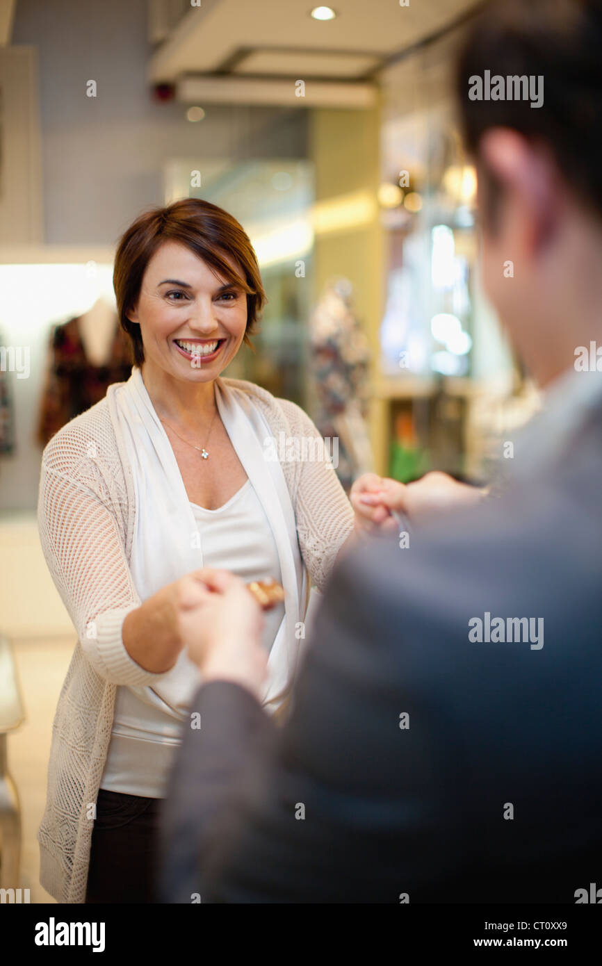 Business people shaking hands - Stock Image