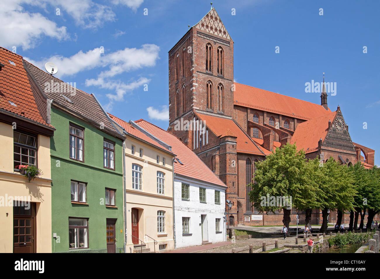 Nikolai Church, Wismar, Mecklenburg-West Pomerania, Germany - Stock Image