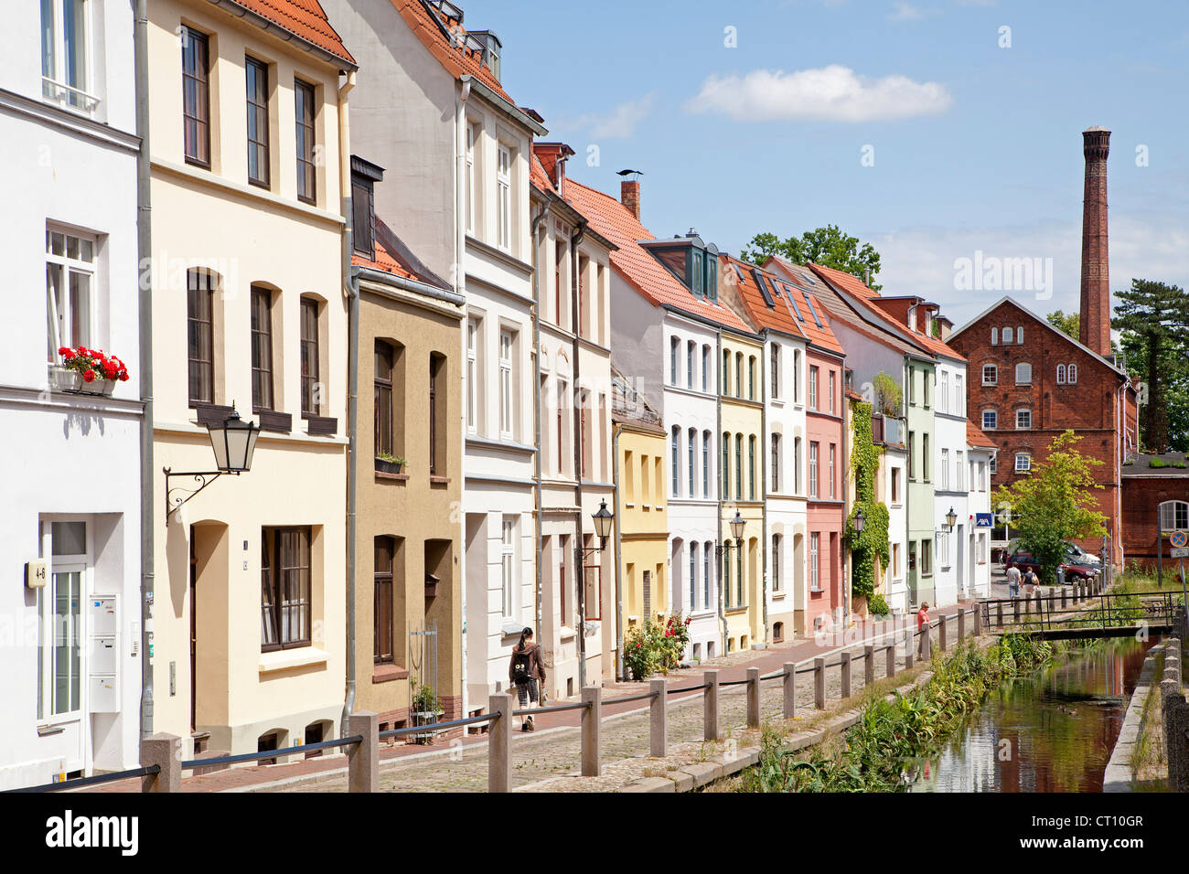 street Muehlengrube, Wismar, Mecklenburg-West Pomerania, Germany - Stock Image