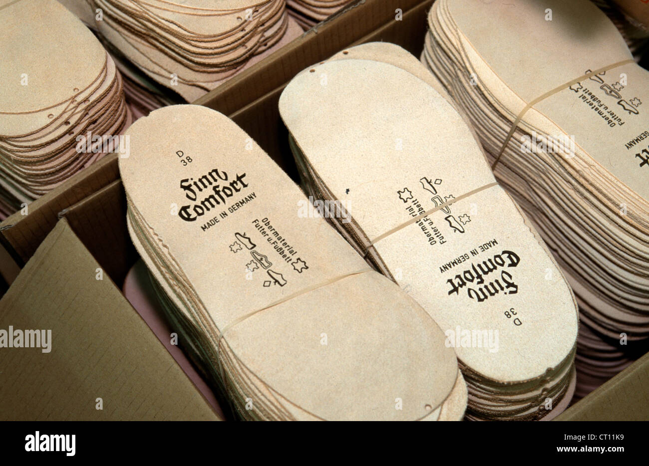 WALDI shoe factory, production of Finn Comfort shoes Stock Photo ...