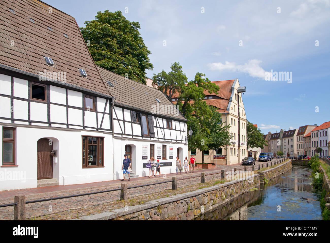 Frische Grube, Wismar, Mecklenburg-West Pomerania, Germany Stock Photo