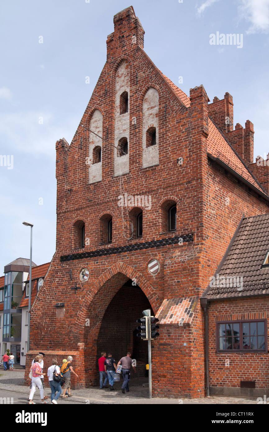 Wassertor (Water Gate), Wismar, Mecklenburg-West Pomerania, Germany - Stock Image