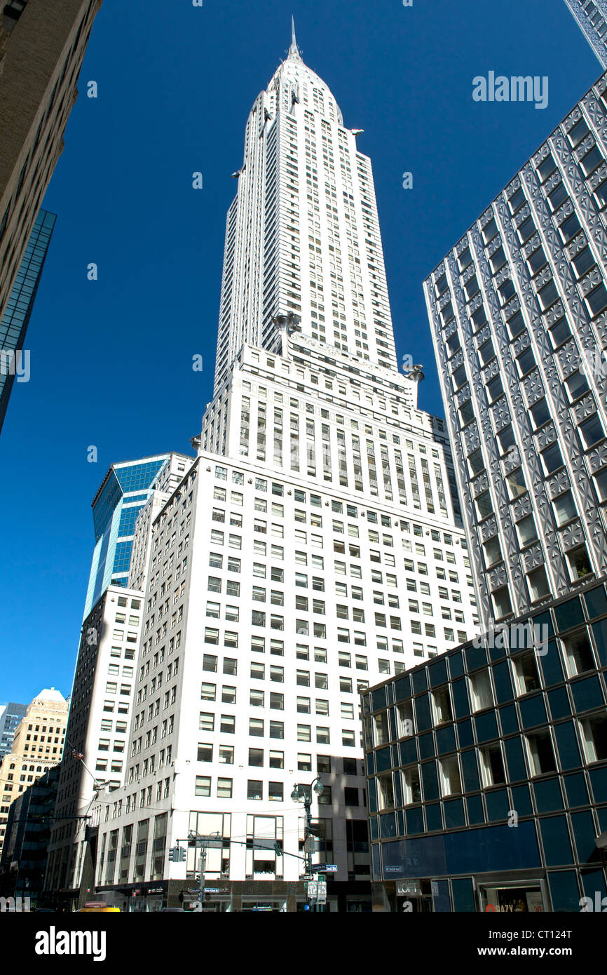 The Chrysler Building in Manhattan, New York City, USA. - Stock Image
