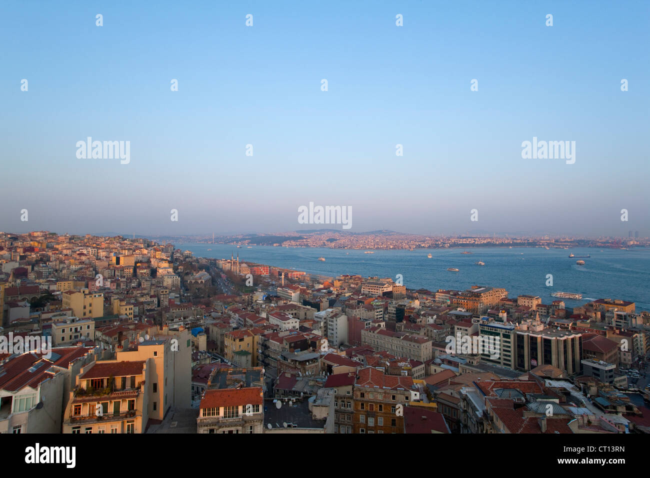Aerial view of Istanbul - Stock Image