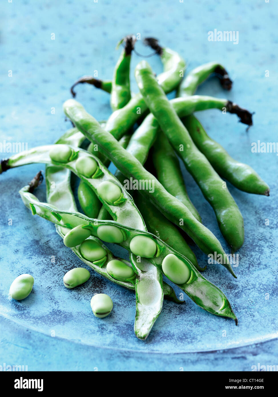 Close up of beans and peas - Stock Image