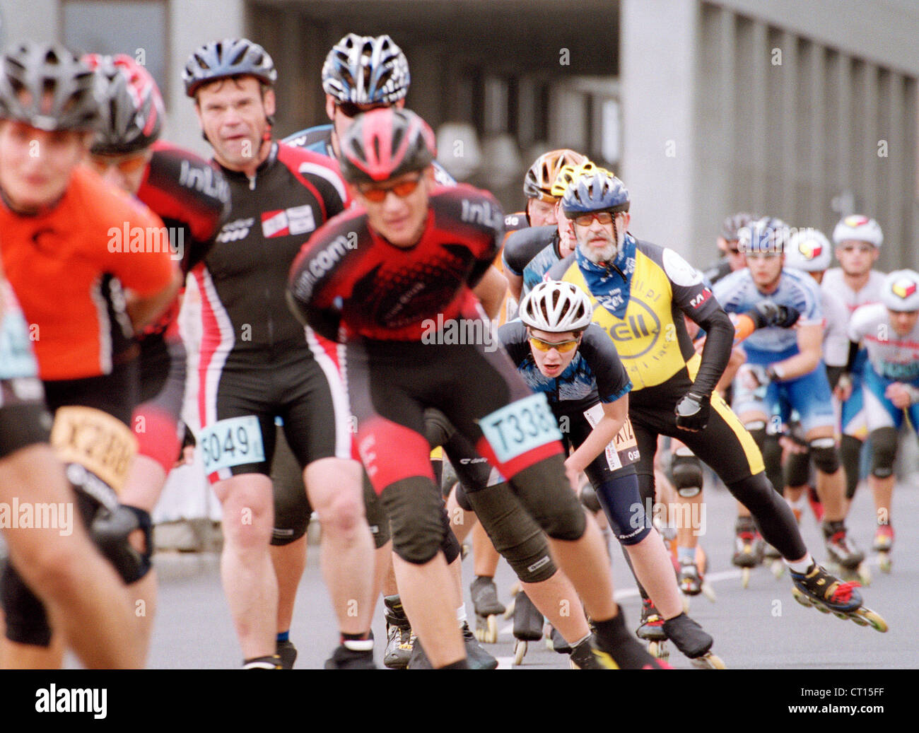 Skaters take part in the Berlin Marathon Stock Photo