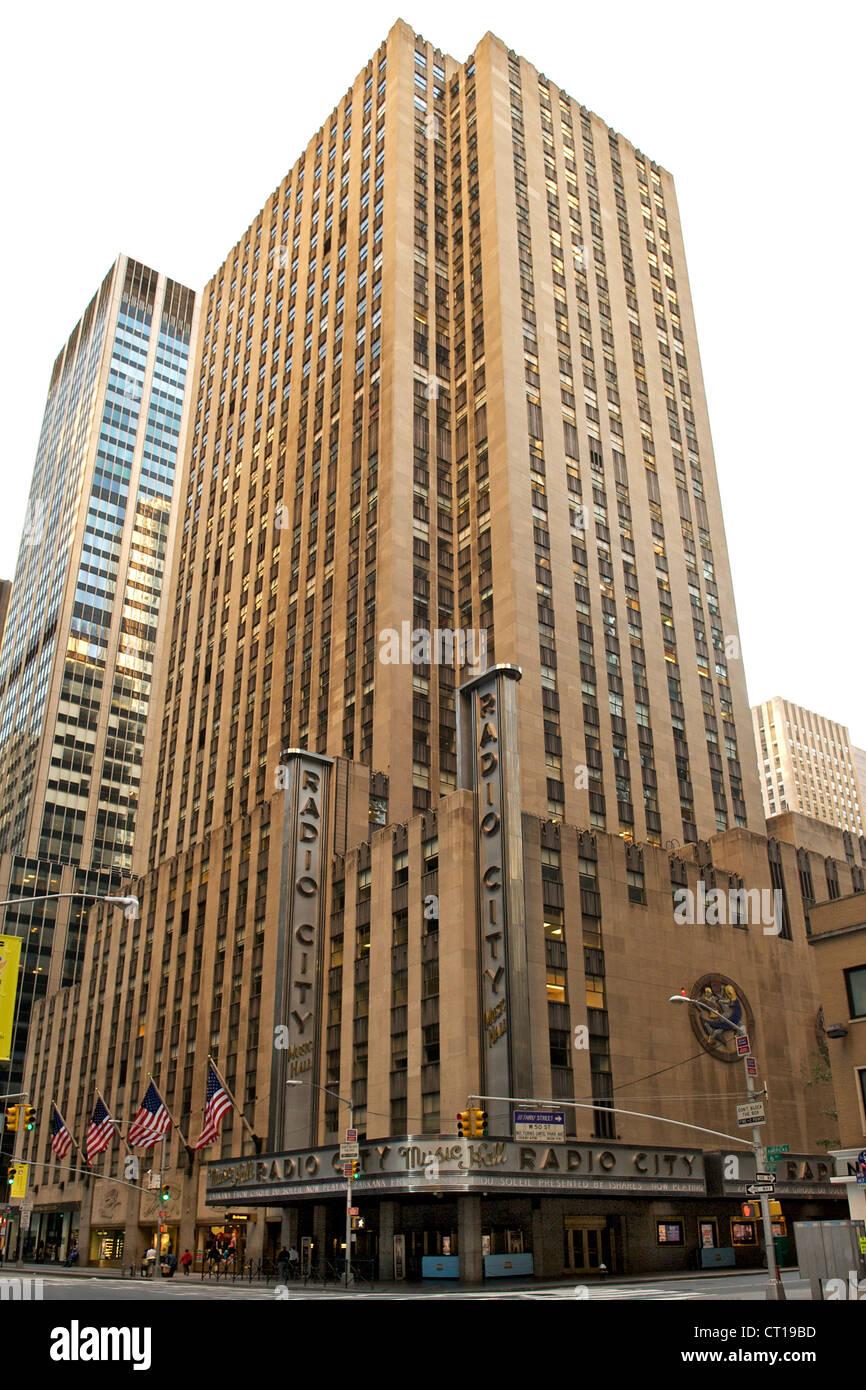 Radio City Music Hall, Manhattan, New York City, USA. - Stock Image