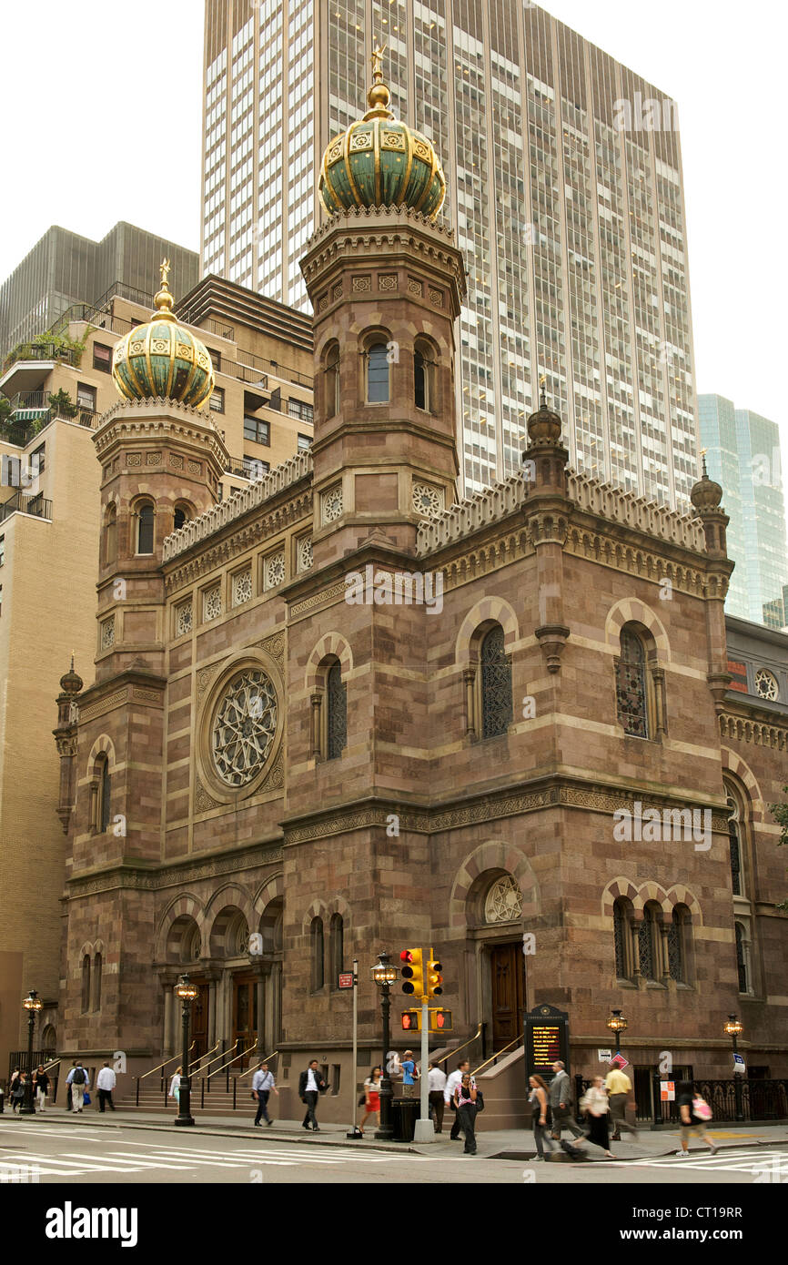 Central Synagogue in Manhattan, New York City, USA. - Stock Image