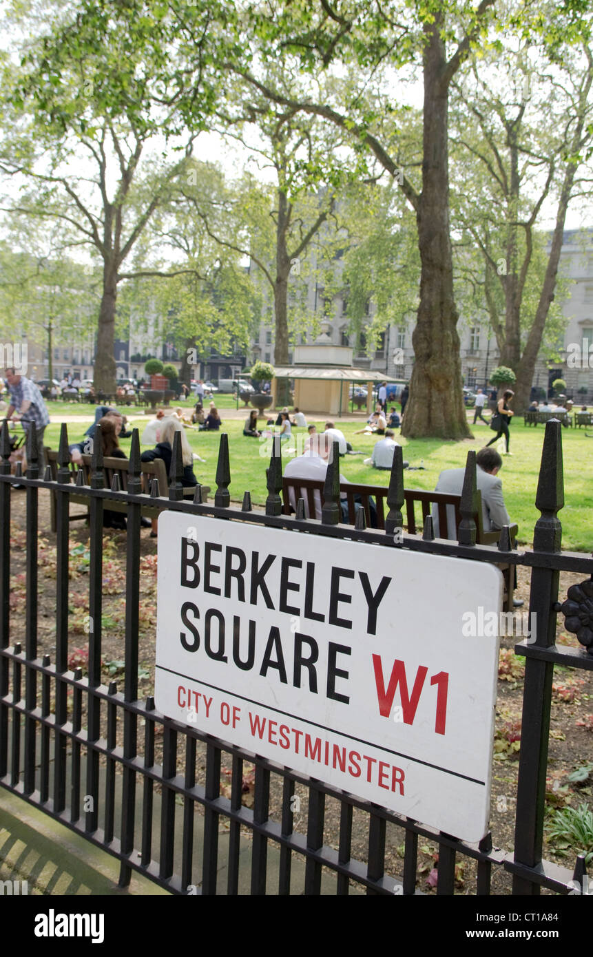 Sign for Berkeley Square, London - Stock Image