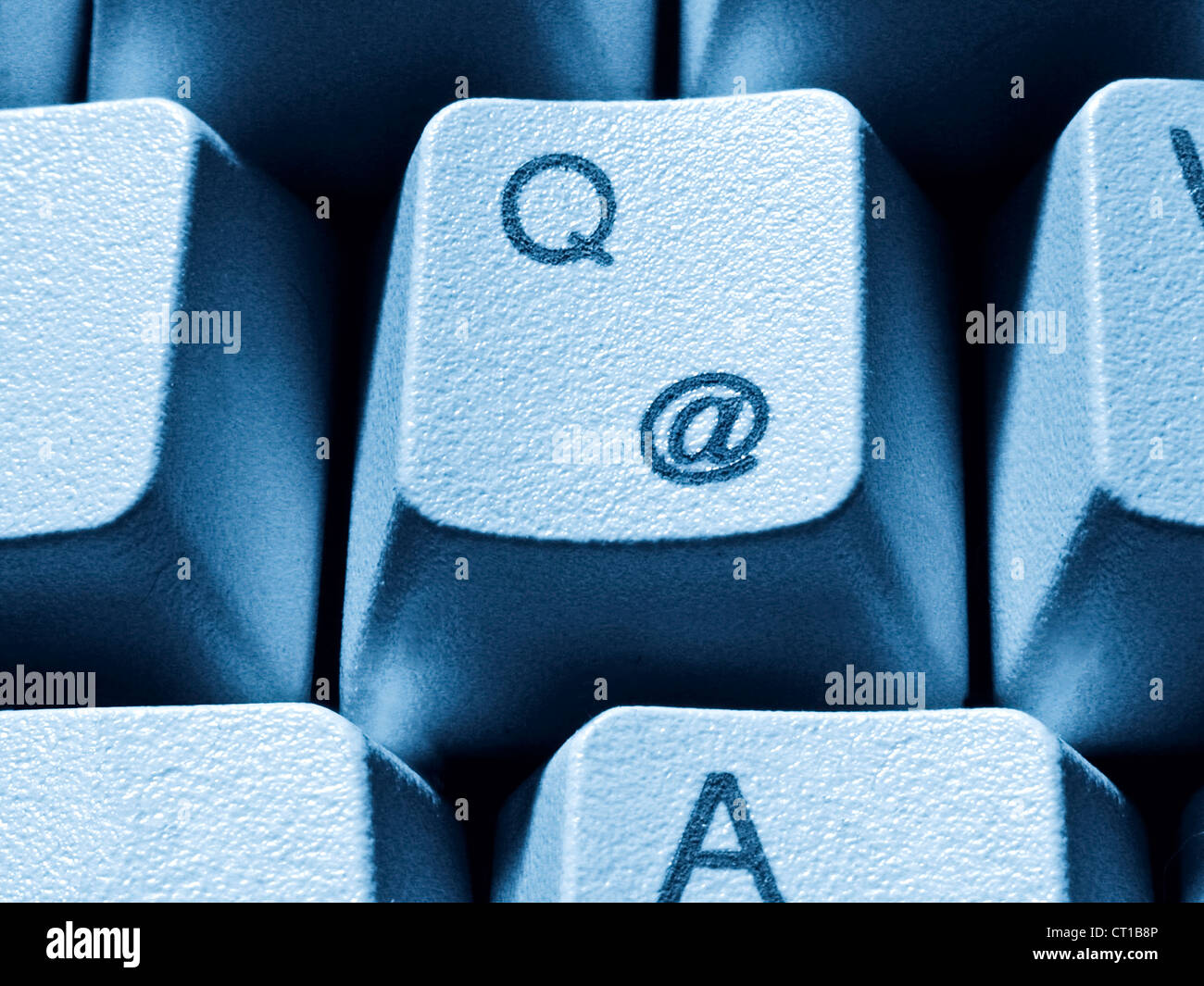 Q - key with @ sign - Stock Image