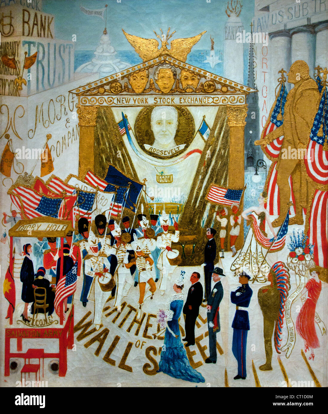 The Cathedrals of Wall Street 1939 Florine Stettheimer American United States of America - Stock Image