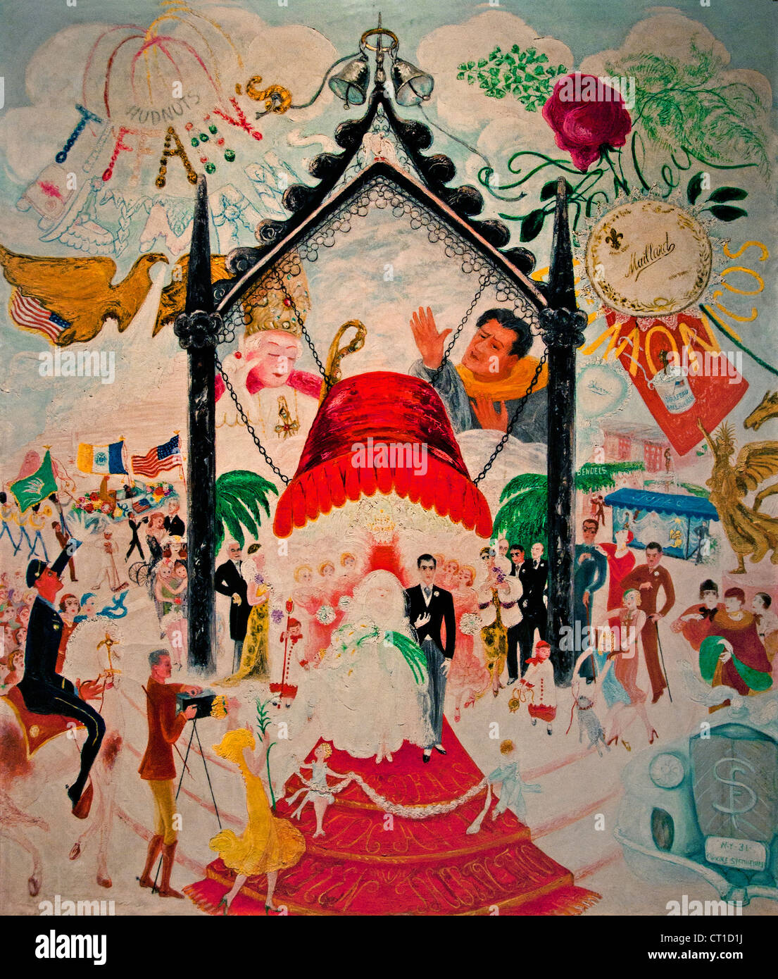 The Cathedrals of Art 1942 Florine Stettheimer American United States of America - Stock Image