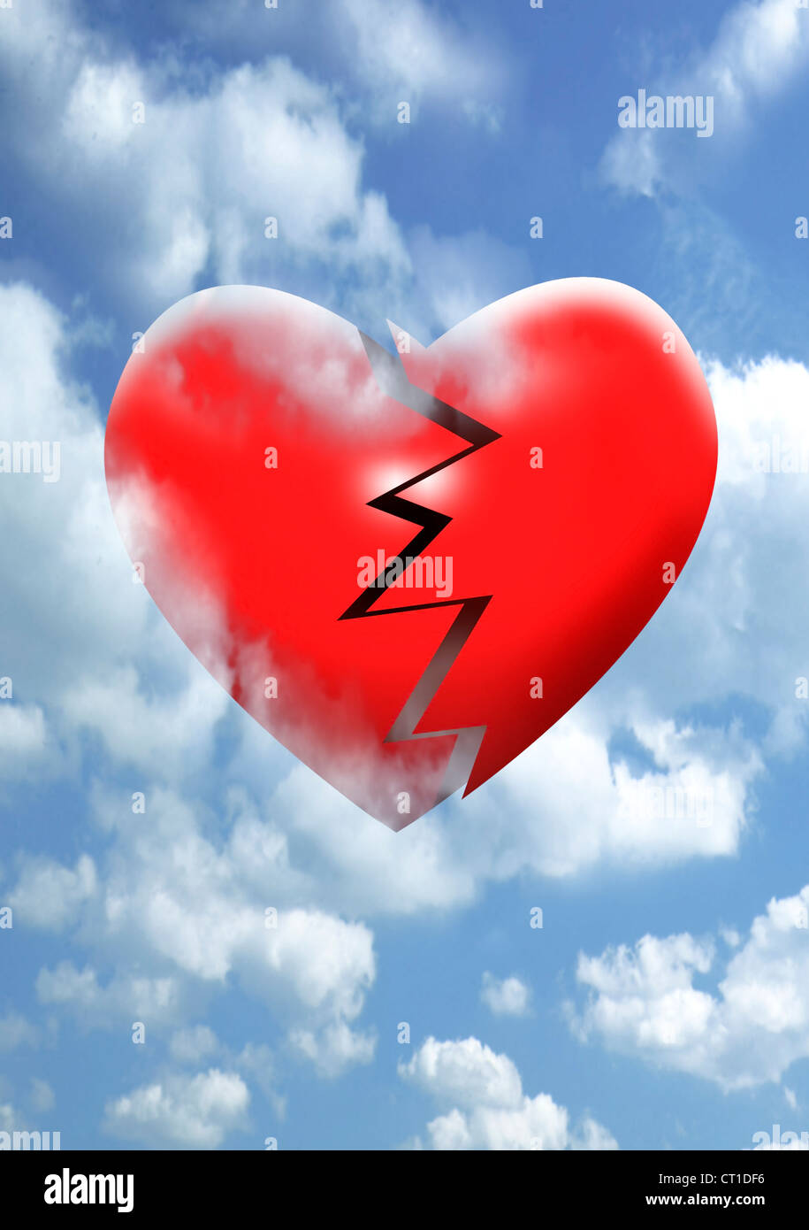 A broken heart in the sky - Stock Image