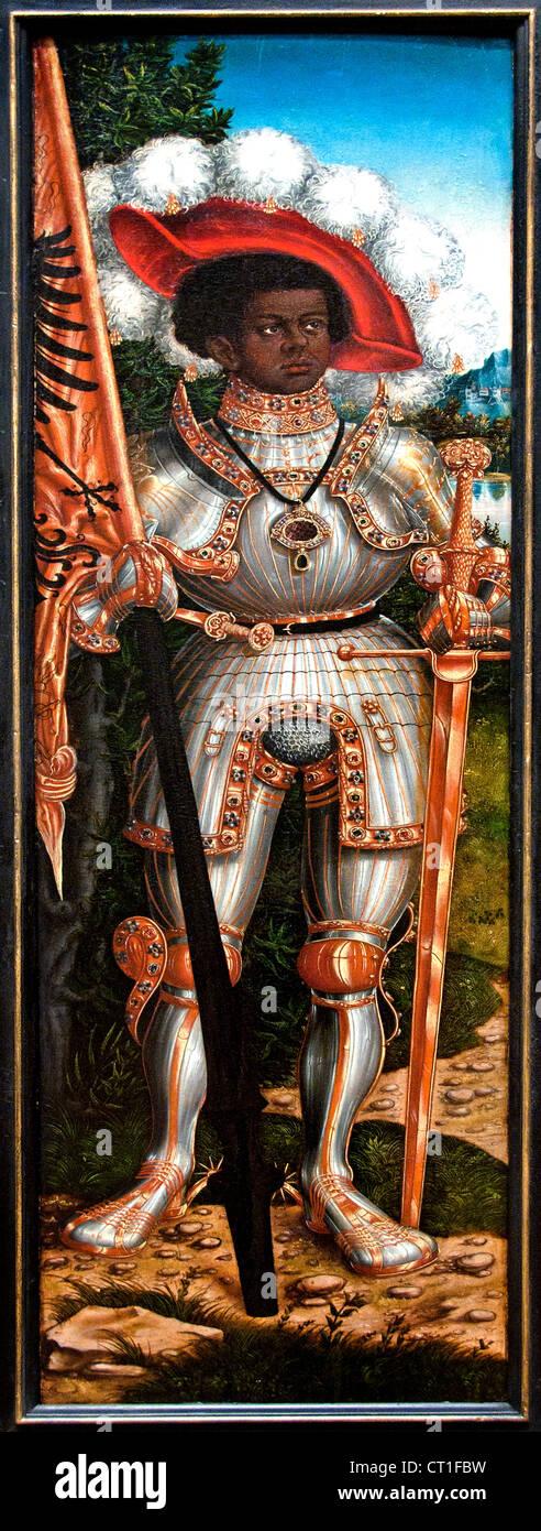Saint Maurice 1522  Lucas Cranach the Elder German Germany - Stock Image