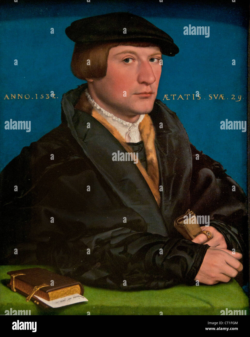 Portrait of a Member of the Wedigh Family, Probably Hermann Wedigh 1532 Hans Holbein the Younger German Germany - Stock Image