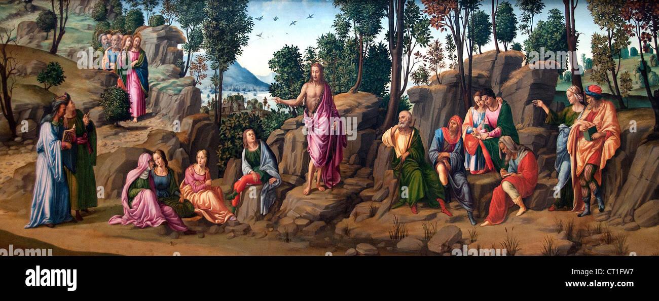 Saint John the Baptist Bearing Witness 1506 Workshop of Francesco Granacci  Italy Italian - Stock Image