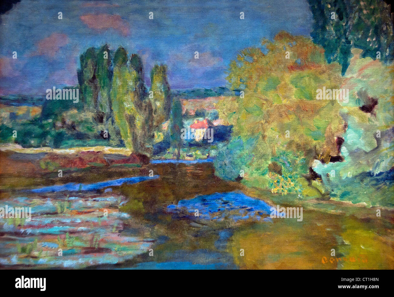 House on the Seine near Vernon 1867 - 1947 Pierre Bonnard France French - Stock Image