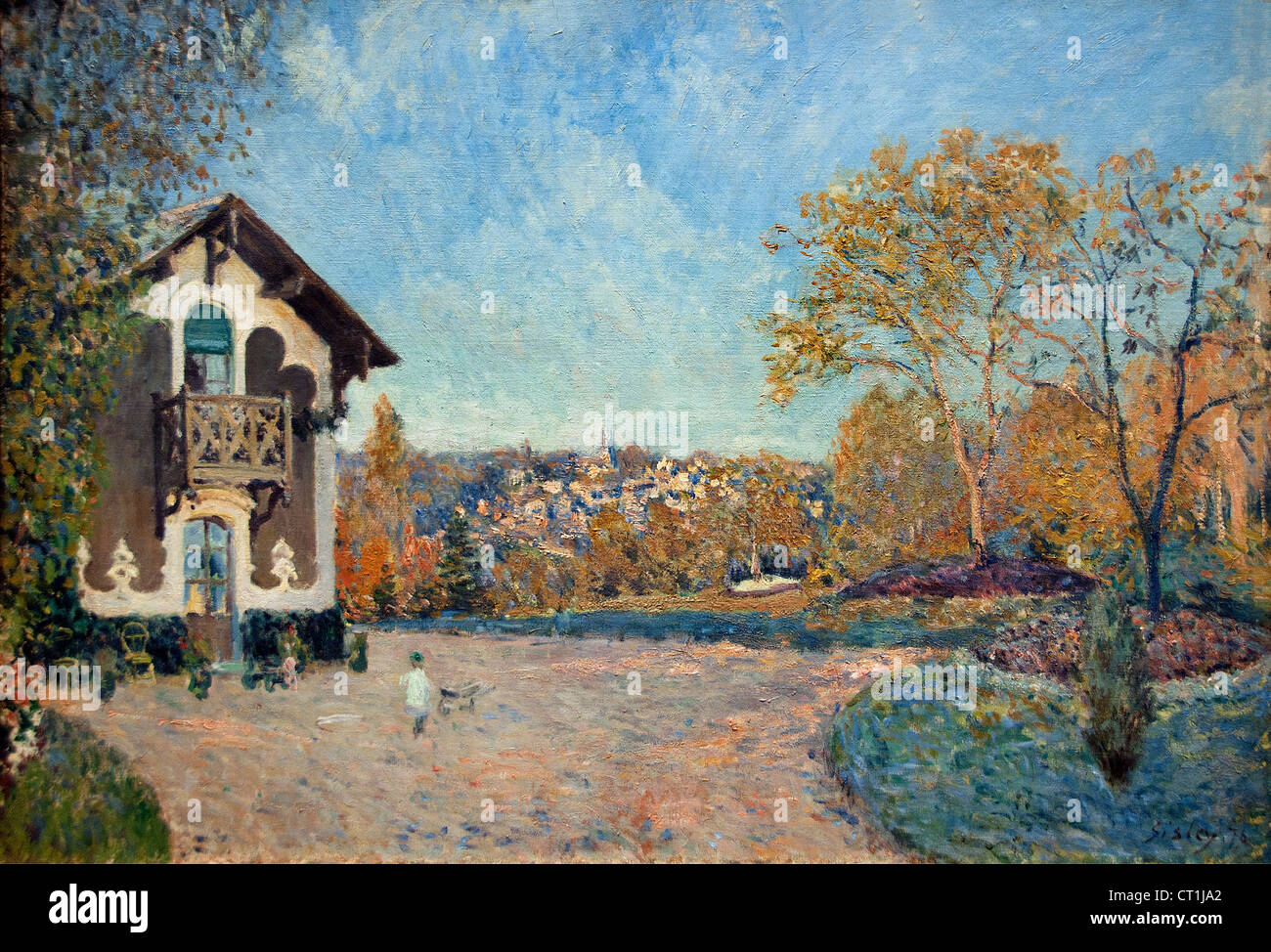 View of Marly le Roi from Coeur Volant 1876 Alfred Sisley 1839 - 1899 British / French Impressionist - Stock Image