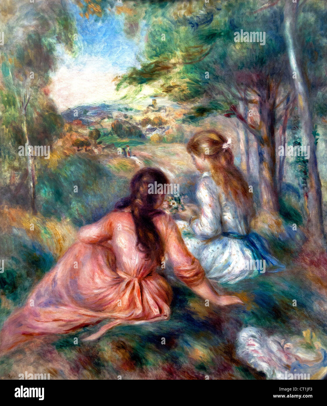 In the Meadow 1888 Pierre Auguste Renoir 1841-1919 French Impressionist France - Stock Image