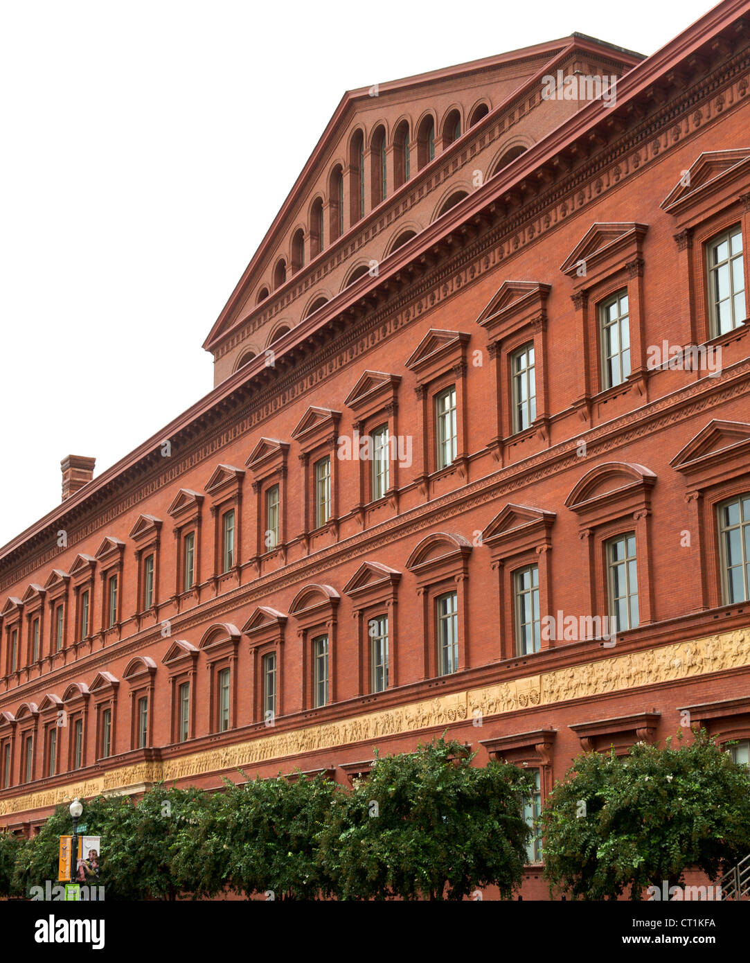 Pension Building in Washington DC, USA. - Stock Image