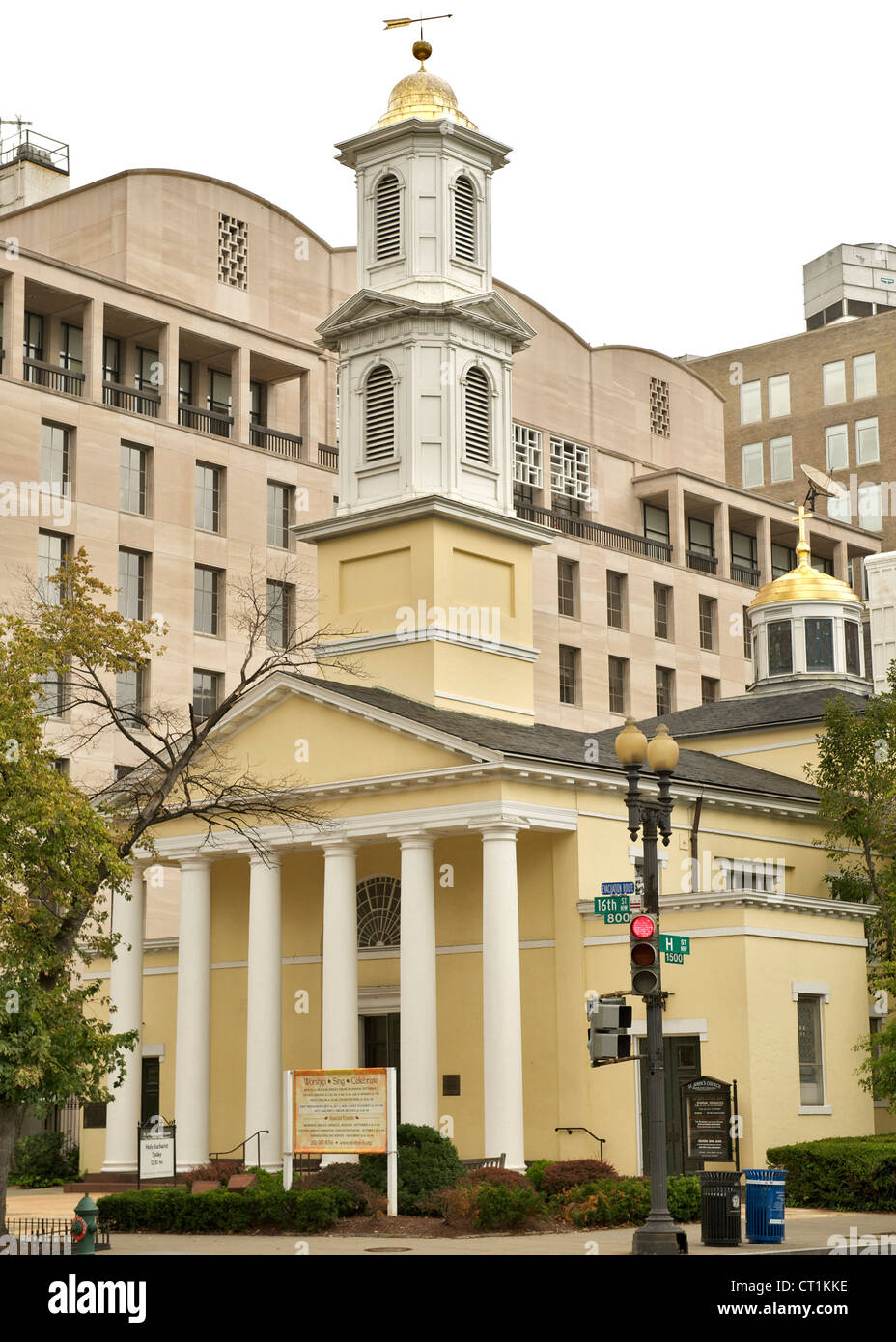 St John's Church in Washington DC, USA. - Stock Image