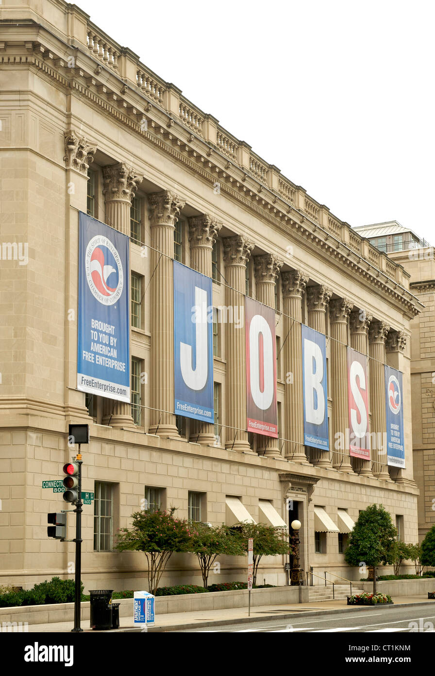 Chamber of Commerce Building in Washington DC, USA. - Stock Image