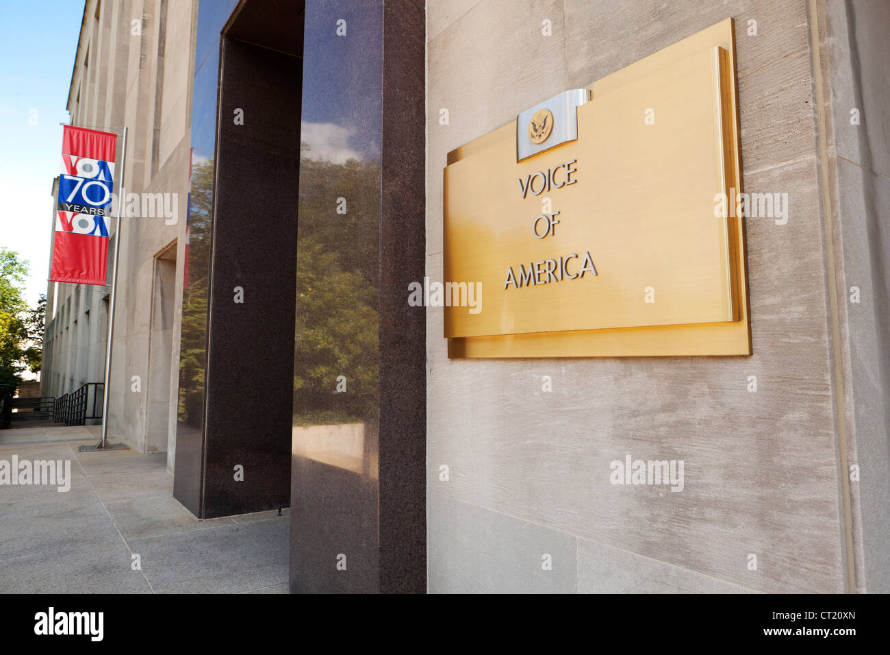 Voice of America building entrance - Stock Image