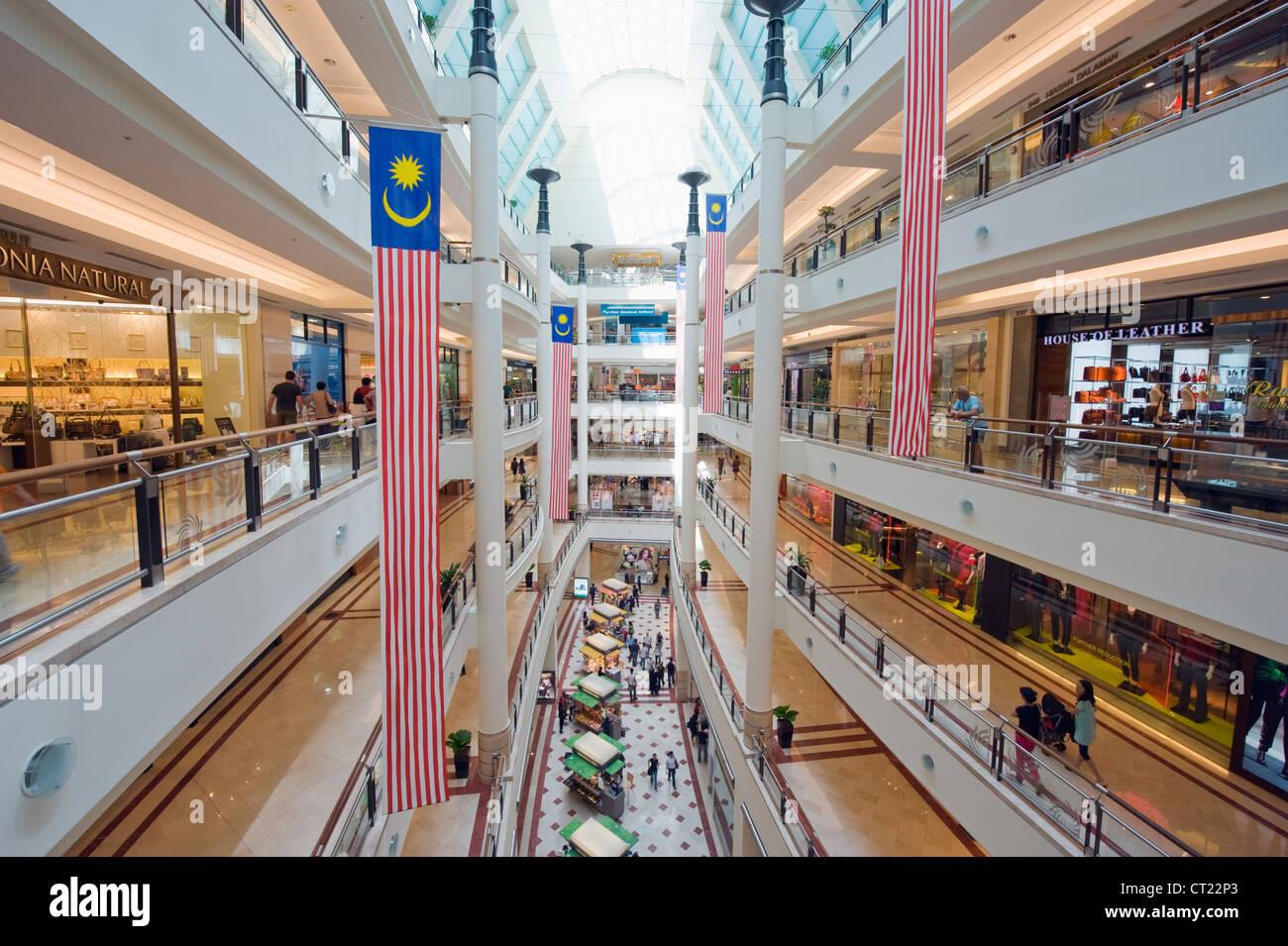 Suria KLCC shopping mall inside Petronas Towers, Kuala Lumpur, Malaysia, South East Asia - Stock Image