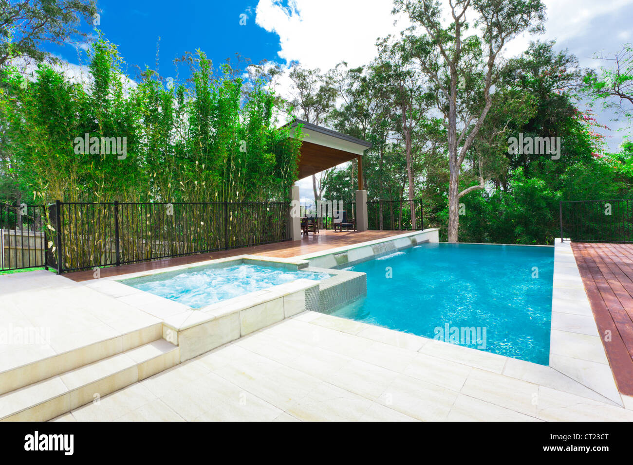 Modern backyard with entertaining area and pool in stylish ... on modern houses with pools, modern rectangle pools, modern water features with pools, modern pools with pools, modern small backyards with grass, modern backyard ideas, modern bedrooms with pools,