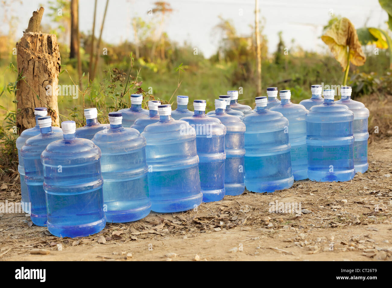 fresh water supplies in tropical dry country - Stock Image