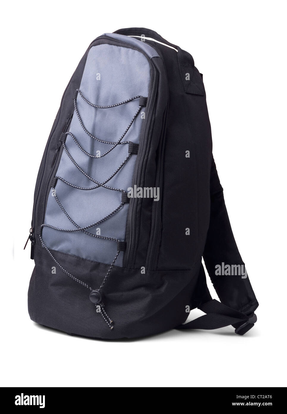 Backpack isolated on white - Stock Image