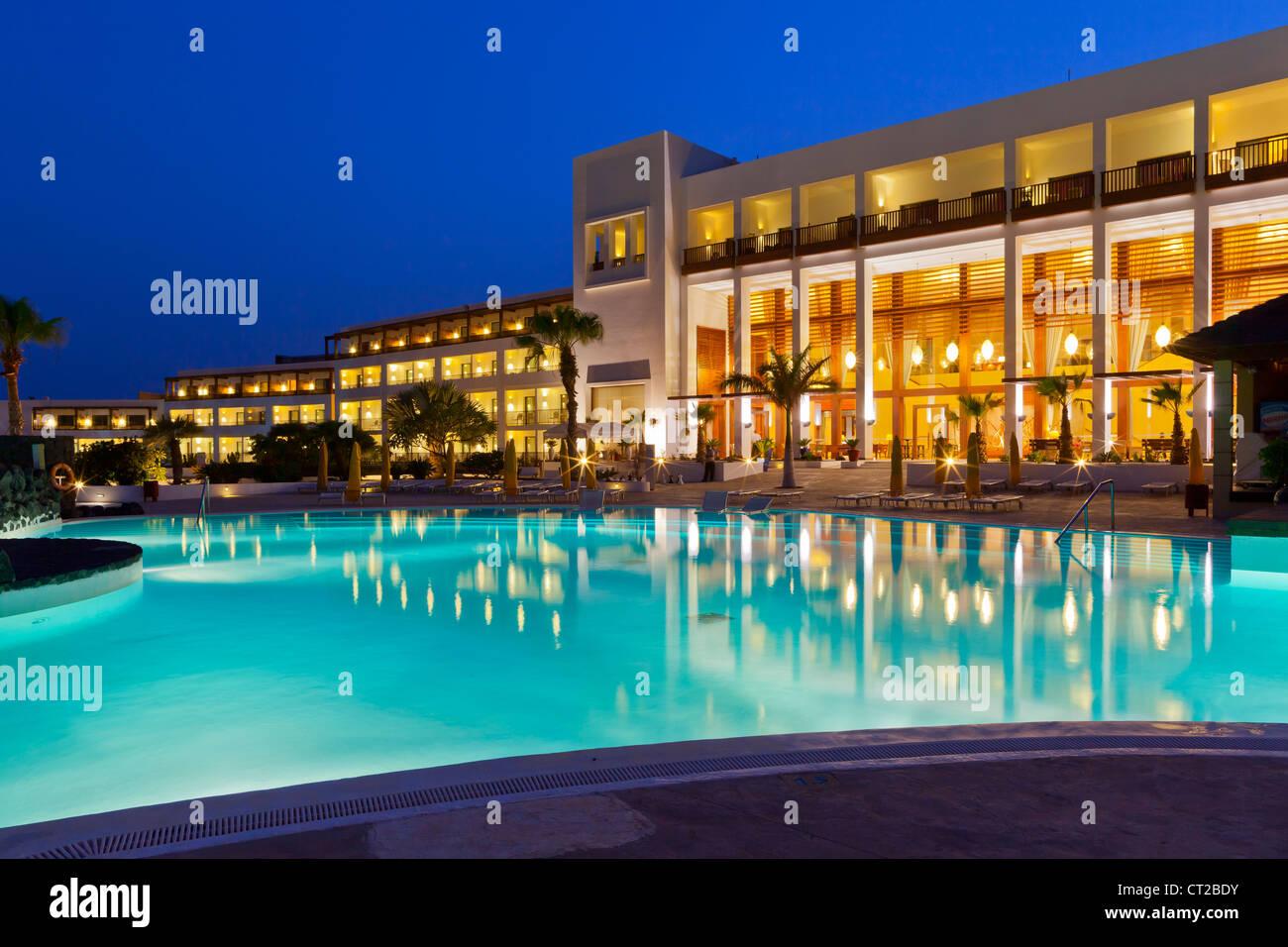 Lanzarote, Hotel Hesperia - Puerto Calero, Lanzarote, Canary Islands, Spain, Europe Stock Photo