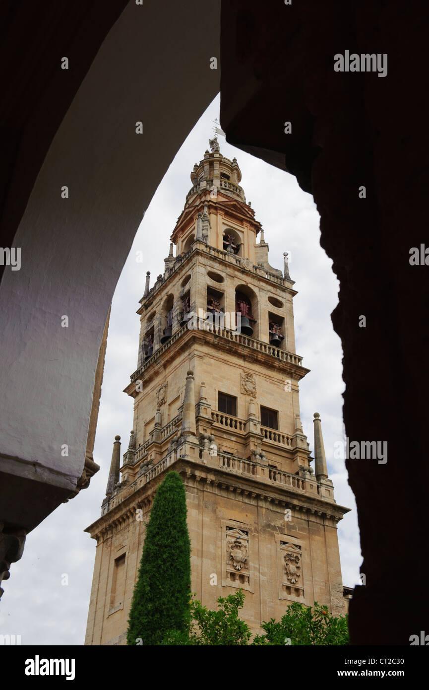 Mezquita's belfry, Cordoba, Spain Stock Photo