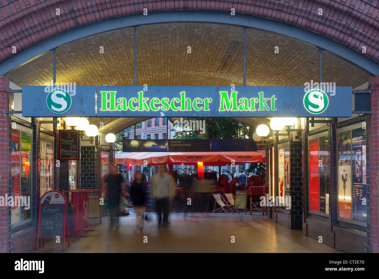 Hackescher Markt S Bahn station, Berlin, Germany Stock Photo