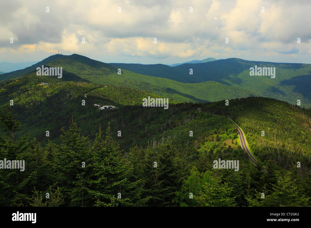 Mt. Mitchell State Park Entrance, Blue Ridge Parkway, Black Mountain, North Carolina, USA Stock Photo