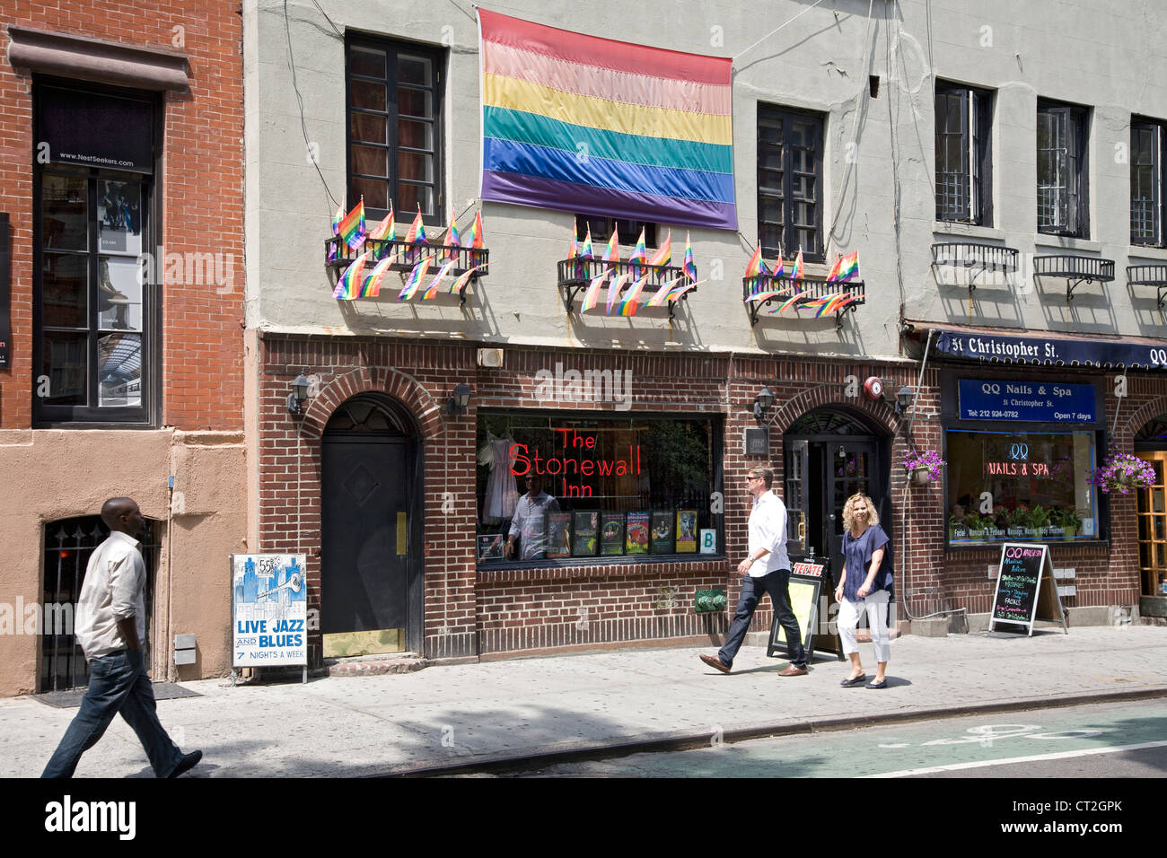 Stonewall Inn on Christopher St. in Greenwich Village, NYC. - Stock Image