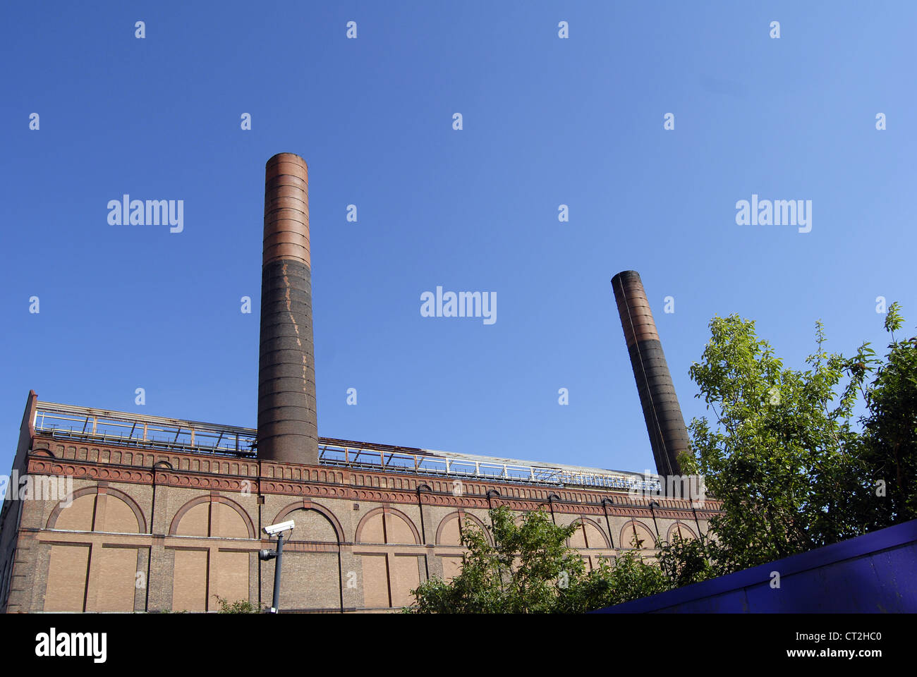 Old Factory with chimneys - Stock Image