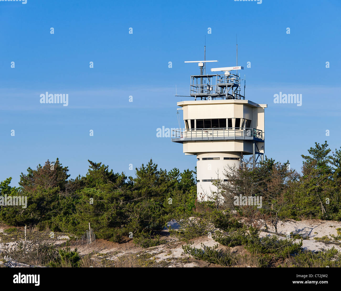 Pilot Radar Tower at Cape Henlopen State Park, Lewes, Delaware - Stock Image