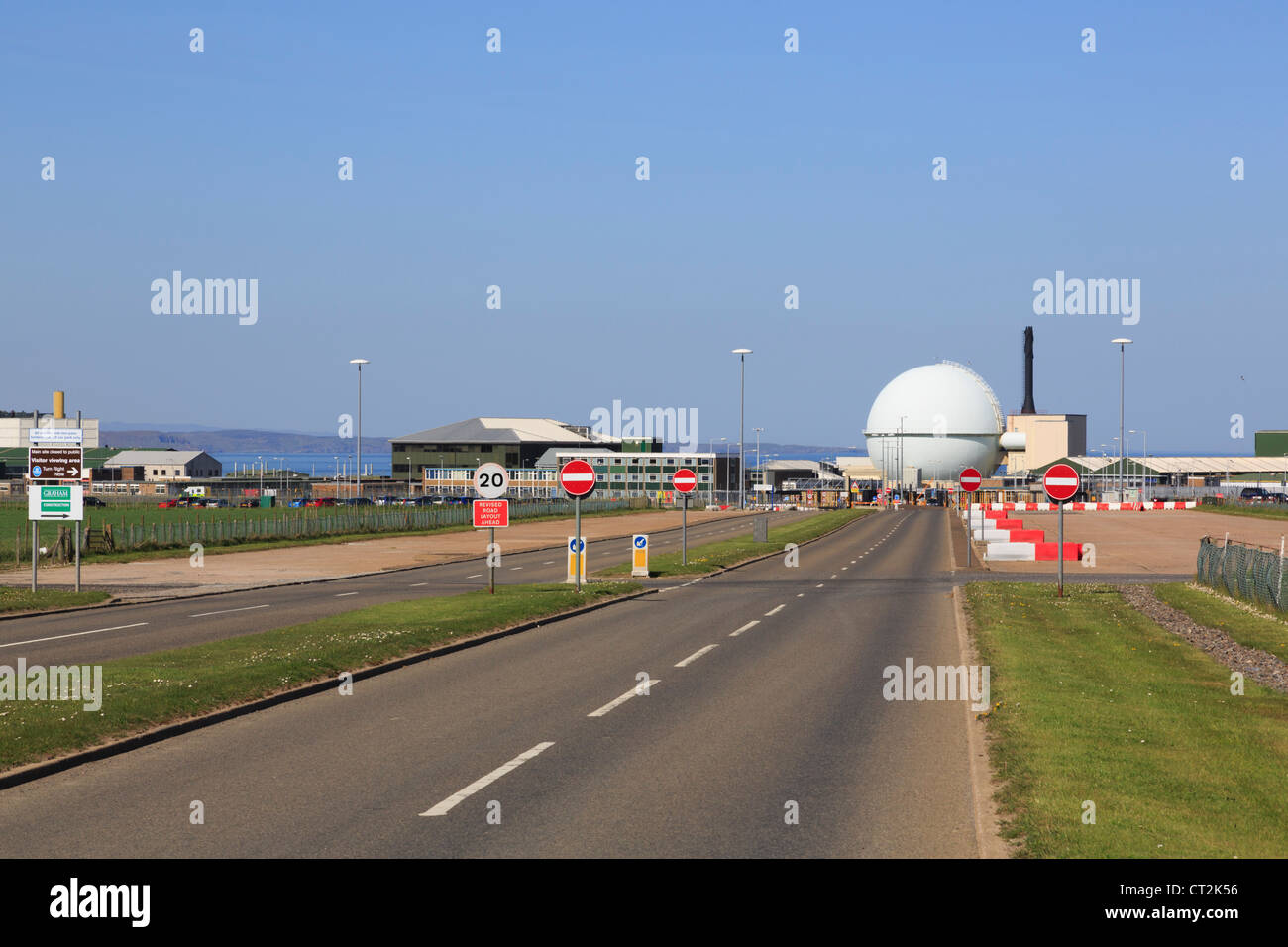 Dounreay nuclear power station atomic energy reactor and research establishment on north coast of Caithness Scotland - Stock Image