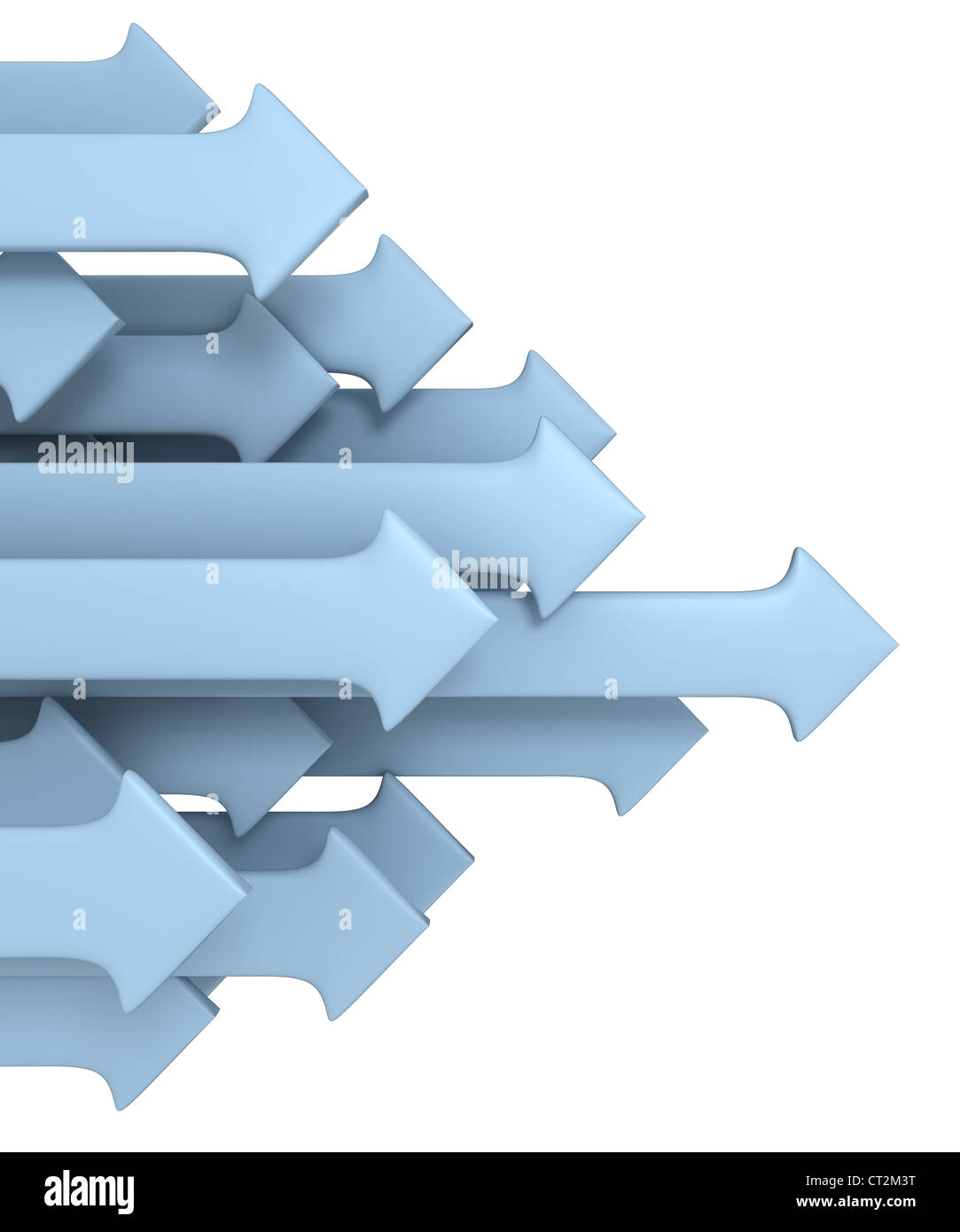 Group of arrows - Stock Image