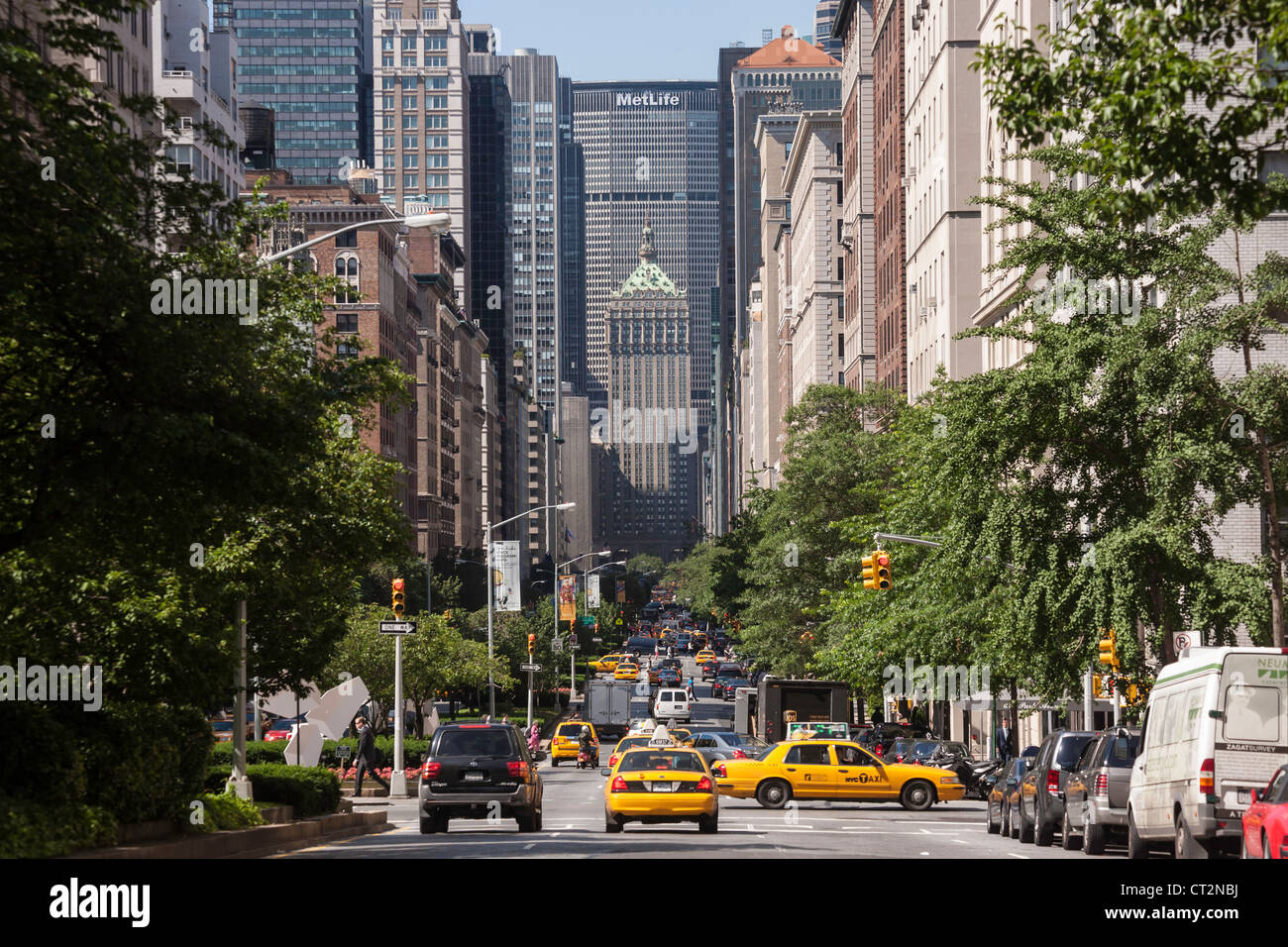 Park Avenue On The Upper East Side Of Manhattan Nyc Stock