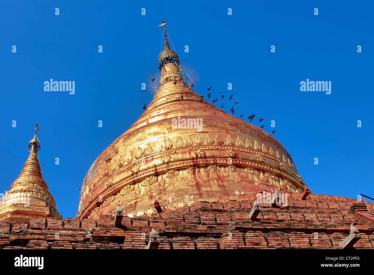 Chedi of Dhammayazika Paya (Pagoda)   Bagan (Pagan)   Myanmar (Burma) Stock Photo