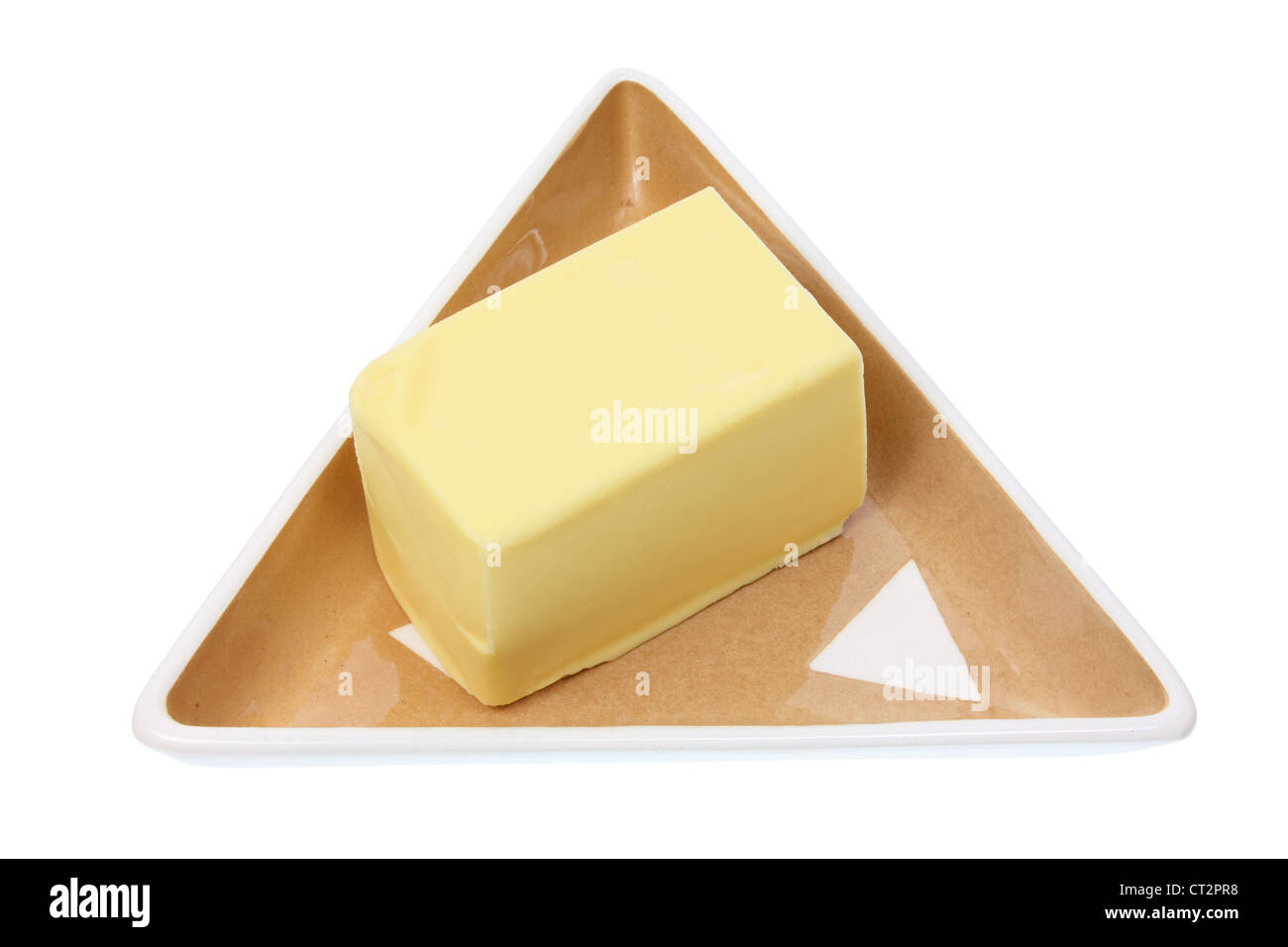 Butter on Plate - Stock Image